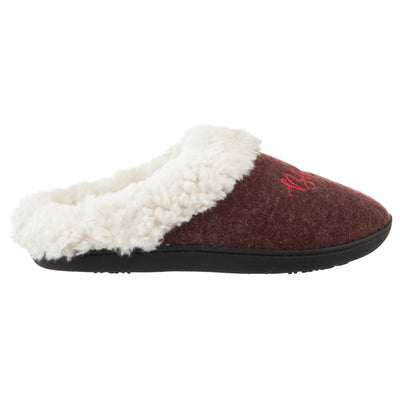 Women's Sweater Knit Novelty Clog Slippers Henna (Maroon) Bisous/Kisses Profile