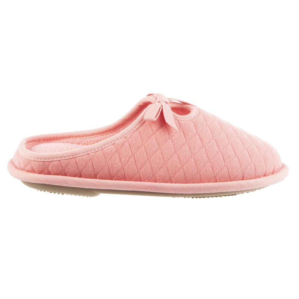 Women's Amelia Quilted Jersey Hoodback Slippers Iced Strawberry Profile