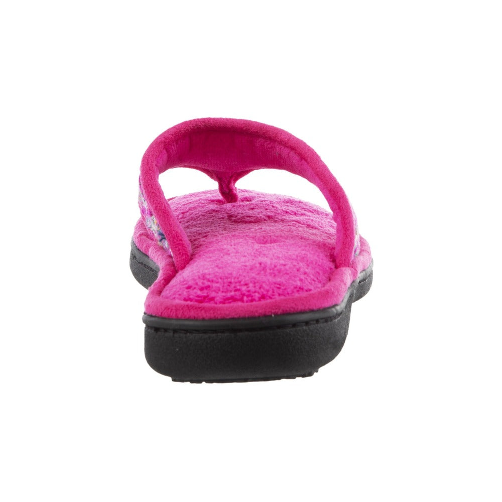 Women's Tweed Nikki Thong Slippers in Very Berry Back Sole