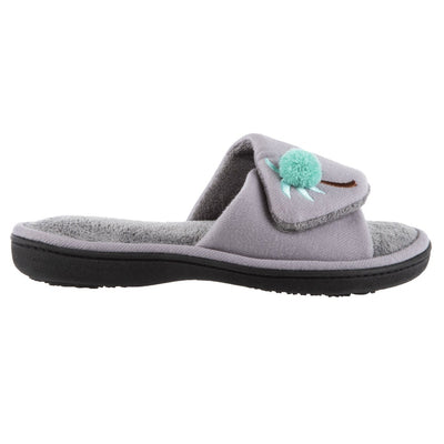 Women's Isabella Adjustable Slide Slippers in Ash Profile View