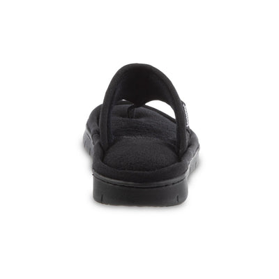 Women's Mesh Mia Thong Slippers in Black Heel View