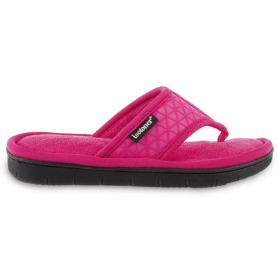 Women's Mesh Mia Thong Slippers in Fiesta Pink Profile View