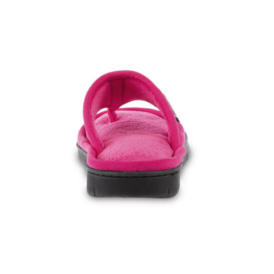 Women's Mesh Mia Thong Slippers in Fiesta Pink Heel View