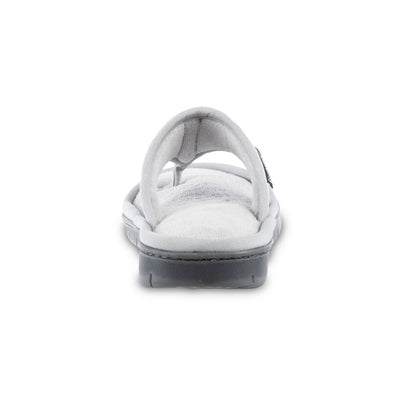 Women's Mesh Mia Thong Slippers in Light Grey Heel View
