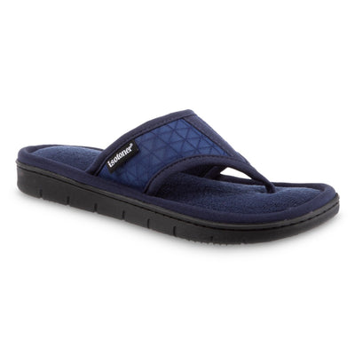 Women's Mesh Mia Thong Slippers in Navy Blue Quarter View