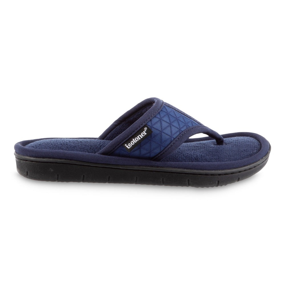 Women's Mesh Mia Thong Slippers in Navy Blue Profile View