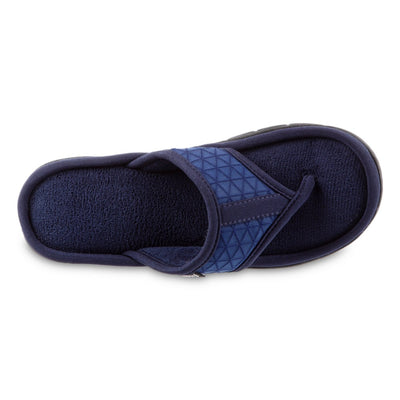 Women's Mesh Mia Thong Slippers in Navy Blue Top View