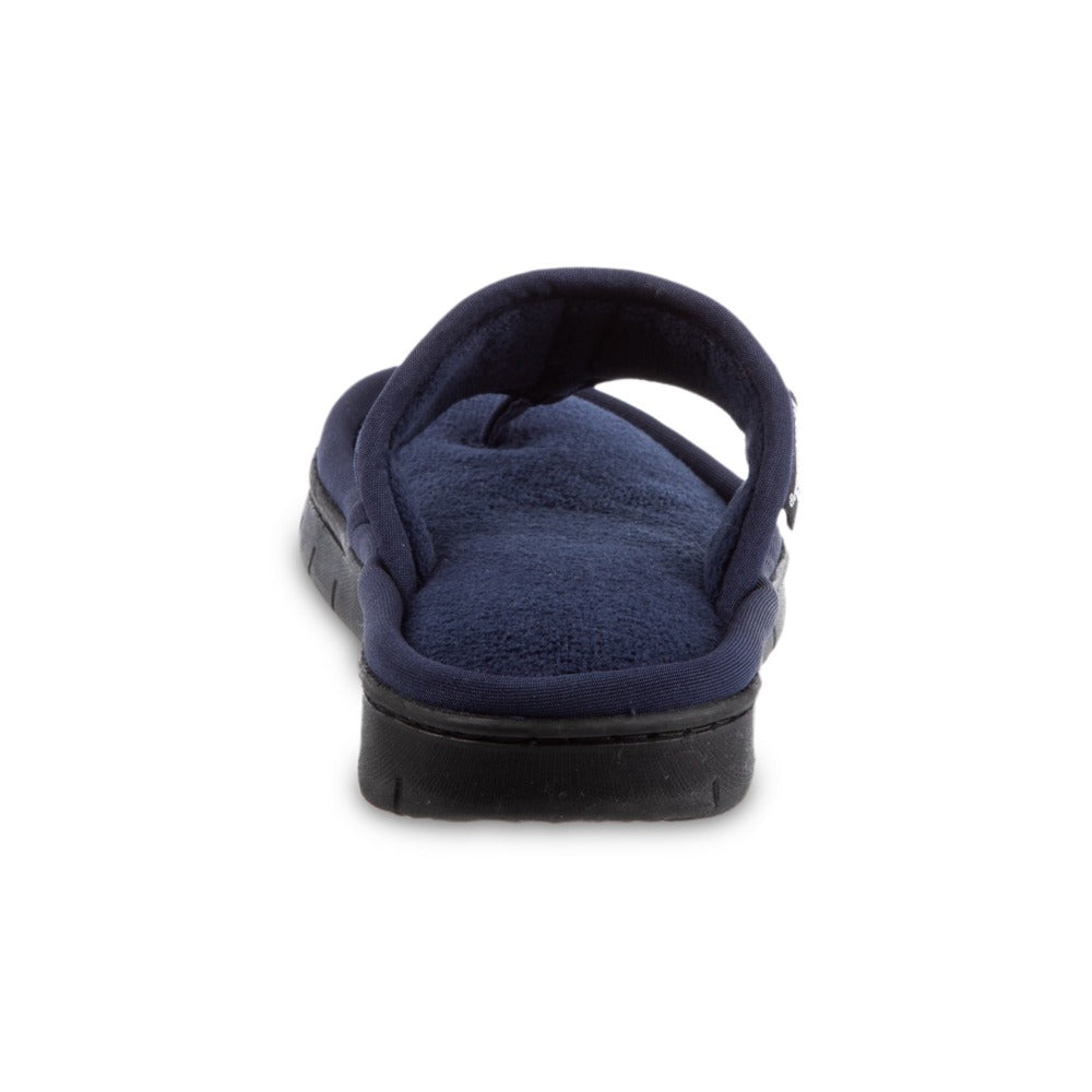 Women's Mesh Mia Thong Slippers in Navy Blue Heel View