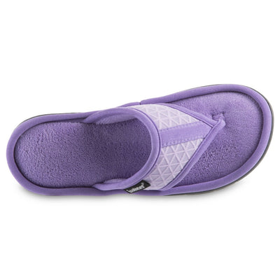Women's Mesh Mia Thong Slippers in Paisley Purple Top View