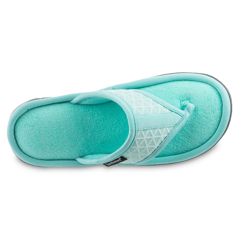 Women's Mesh Mia Thong Slippers Spring Green Top View