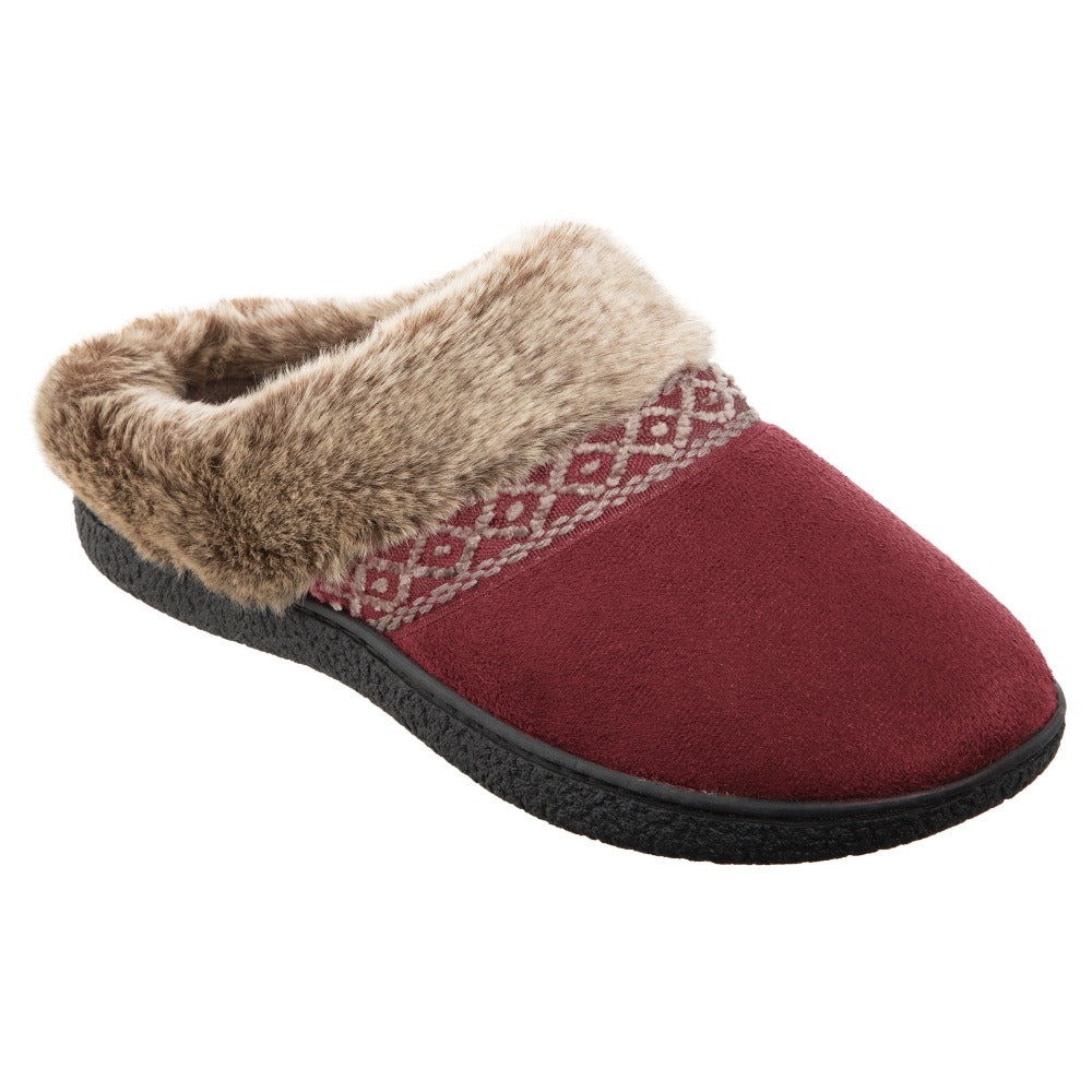 Women's Microsuede Aria Hoodback in Chili Red Right Angled View