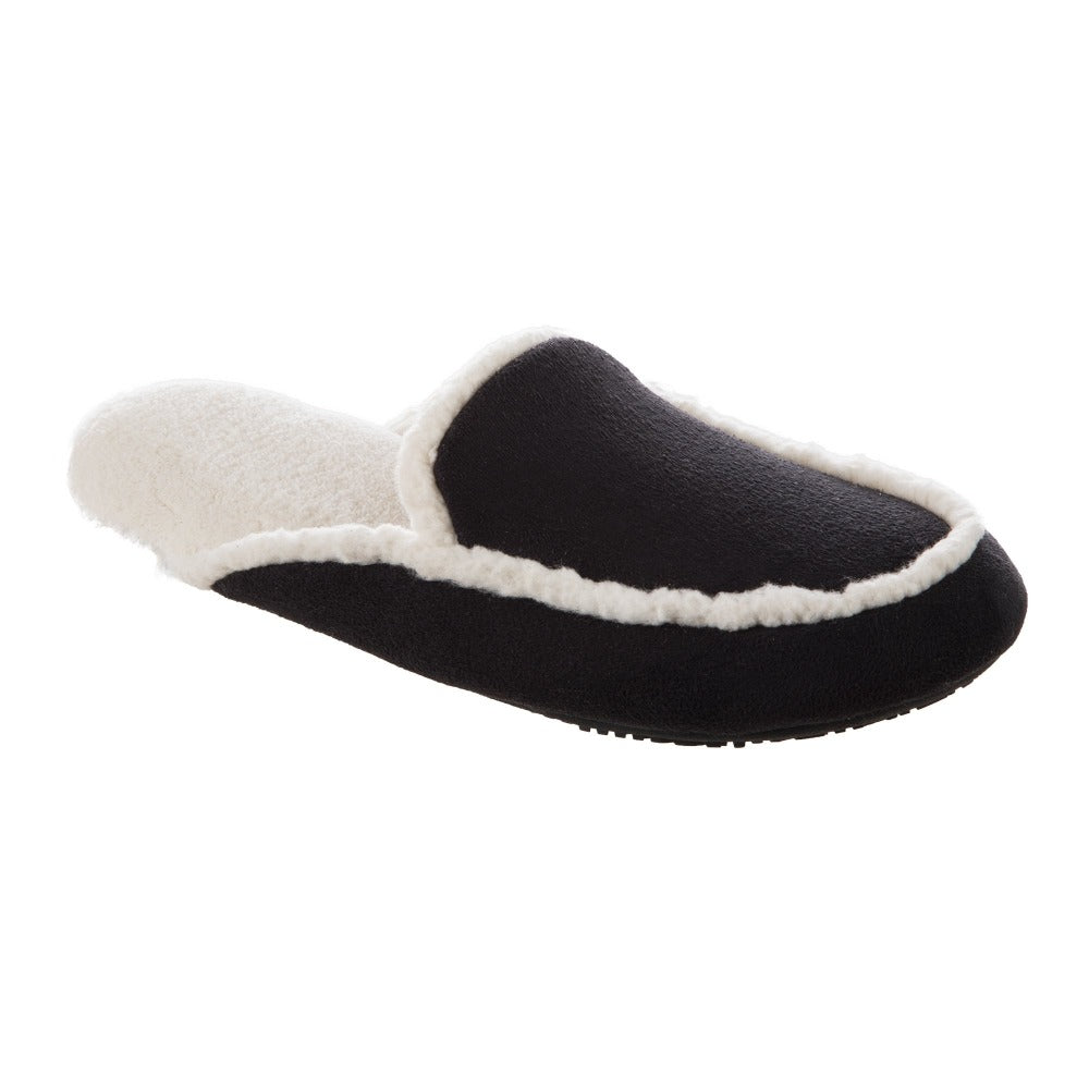 Women's Alex Microsuede Scuff Slippers in Black Right Angled View