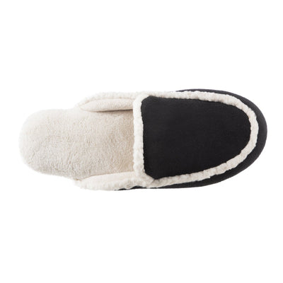 Women's Alex Microsuede Scuff Slippers in Black Inside Top View