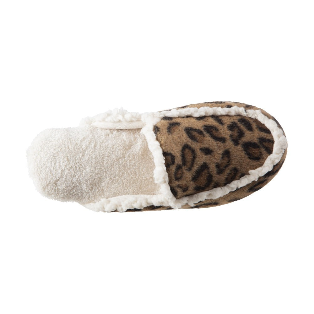 Women's Alex Microsuede Scuff Slippers in Buckskin (Cheetah Print) Inside Top View