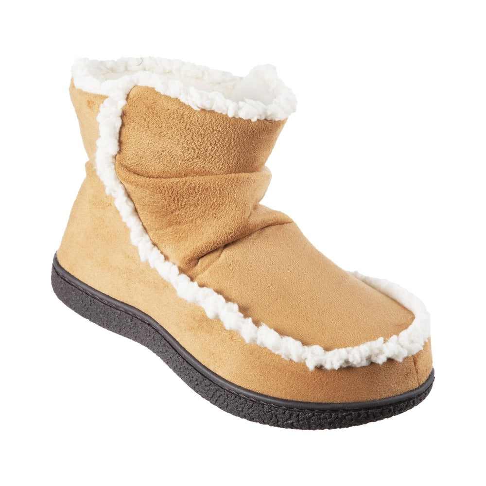 Women's Microsuede Alex Boot Slippers in Buckskin Right Angled View
