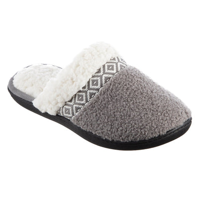 Women's Berber Nina Clog Slippers in Ash Right Angled View