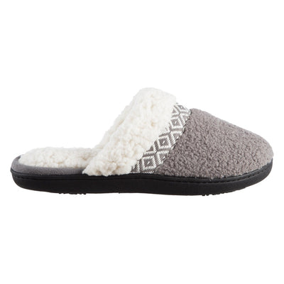 Women's Berber Nina Clog Slippers in Ash Profile