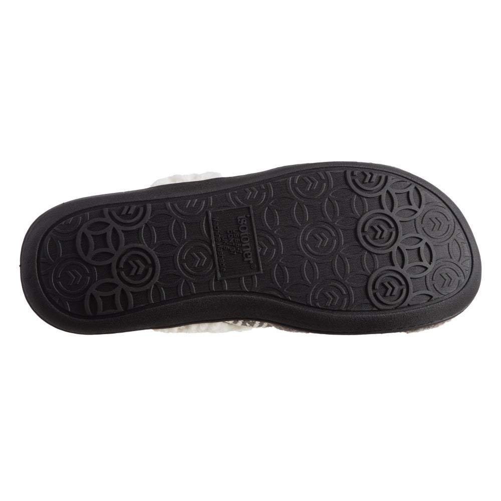 Women's Berber Nina Clog Slippers in Ash Bottom Sole Tread
