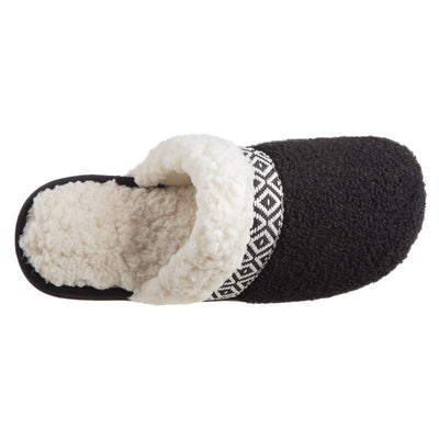 Women's Berber Nina Clog Slippers in Black Inside Top View