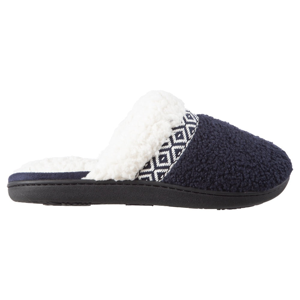 Women's Berber Nina Clog Slippers in Navy Profile