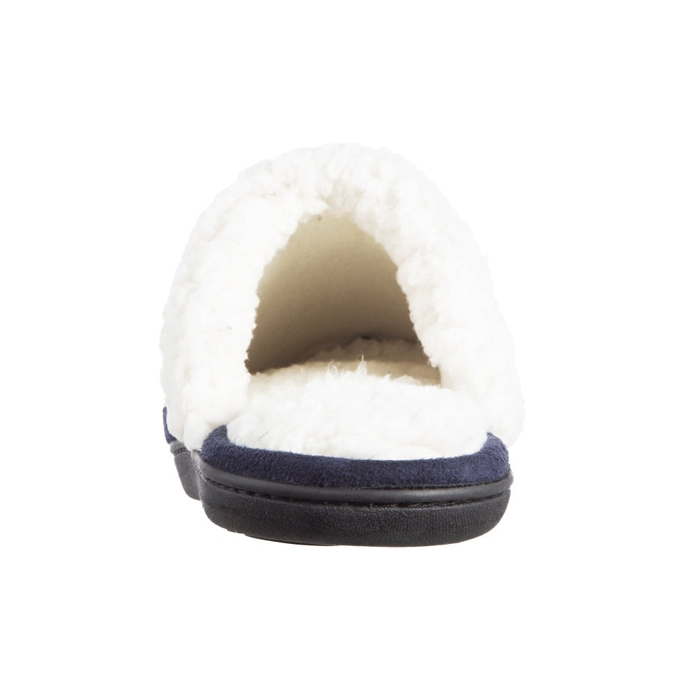Women's Berber Nina Clog Slippers in Navy Back Heel