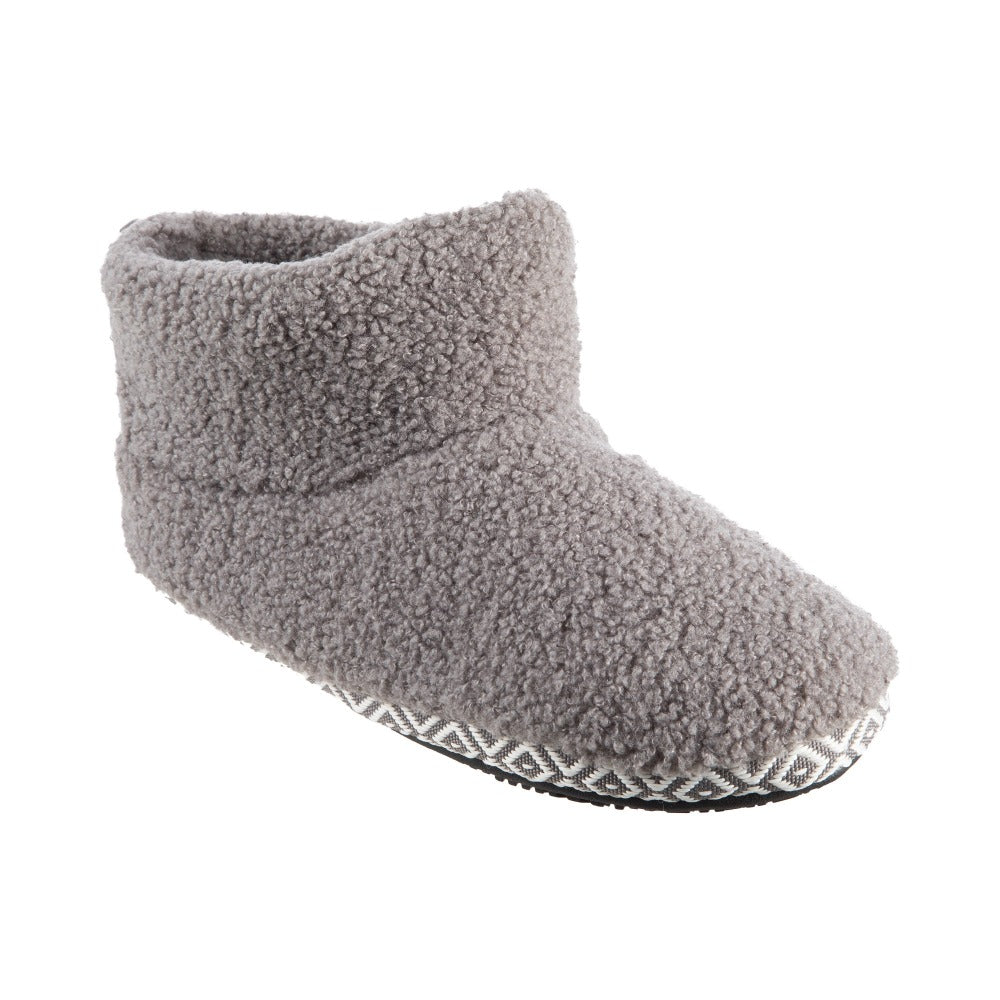 Women's Berber Nina Bootie Slippers in Ash Right Angled View