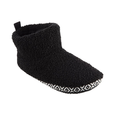 Women's Berber Nina Bootie Slippers in Black Right Angled View