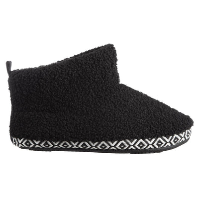 Women's Berber Nina Bootie Slippers in Black Profile