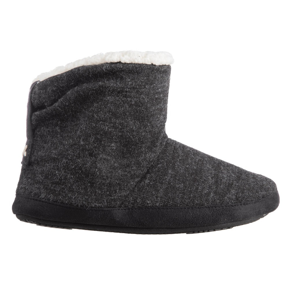 Women's Marisol Boot Slippers in Black Profile