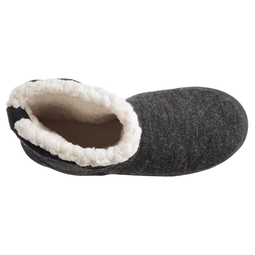 Women's Marisol Boot Slippers Black Inside Top View