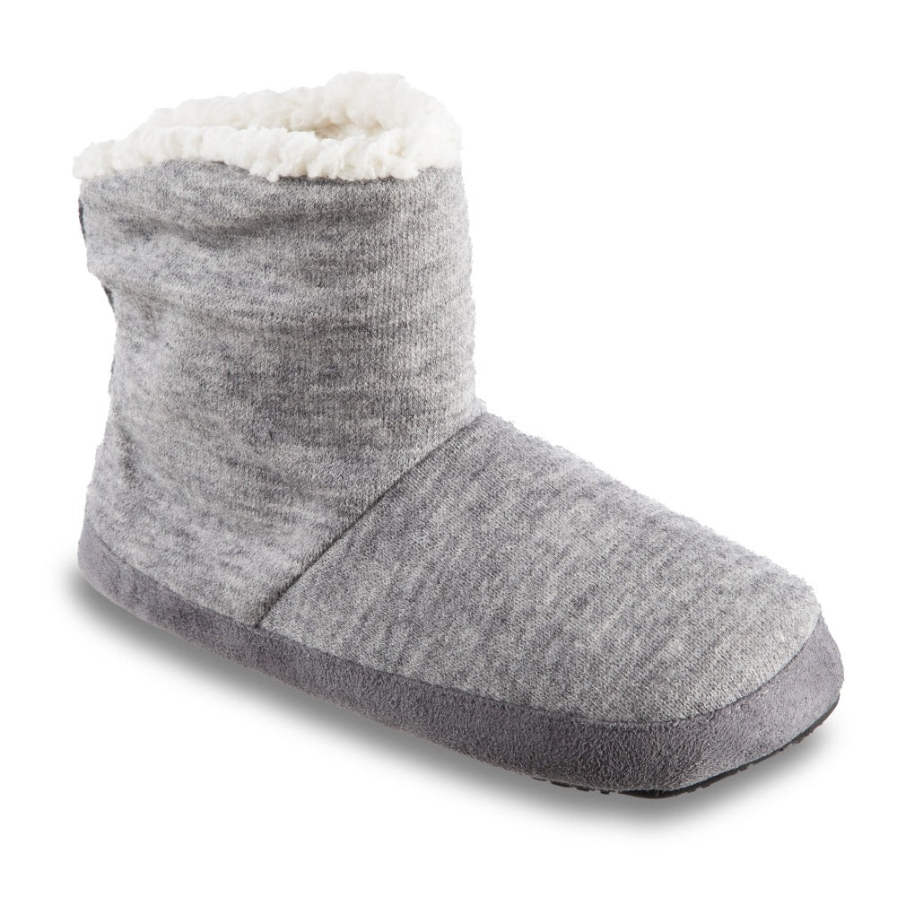 Women's Marisol Boot Slippers in Heather Grey Right Angled View