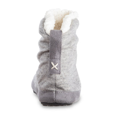 Women's Marisol Boot Slippers Heather Grey Back Heel
