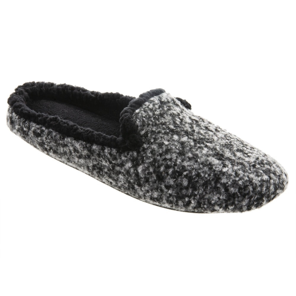 Women's Jessie Hoodback Slippers in Dark Charcoal Heathered Right Angled View