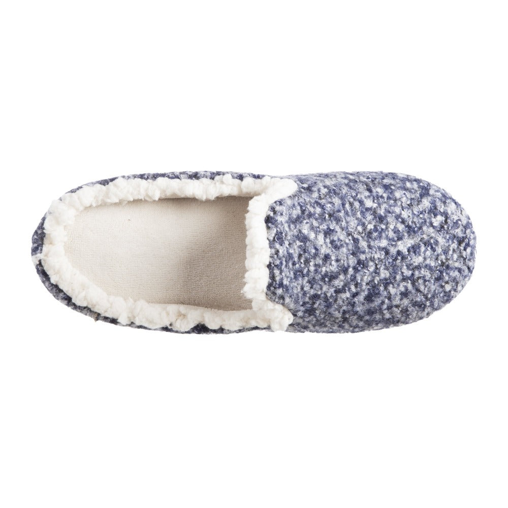 Women's Jessie Hoodback Slippers Navy/Blue Inside Top View