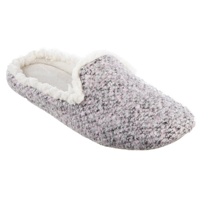 Women's Jessie Hoodback Slippers in Storm Grey Right Angled View