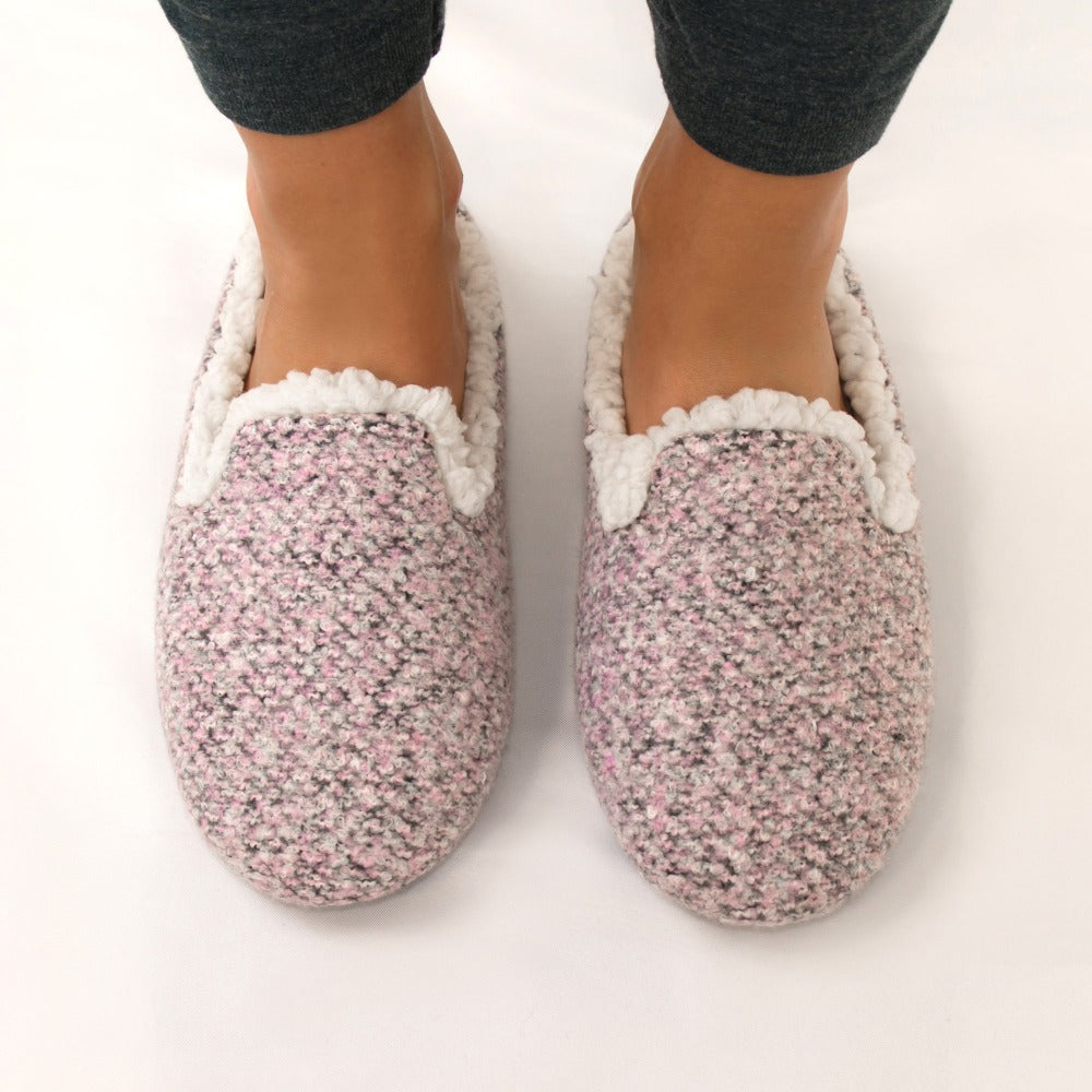 Women's Jessie Hoodback Slippers in Stormy Grey On Model