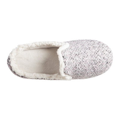 Women's Jessie Hoodback Slippers Stormy Grey Inside Top View