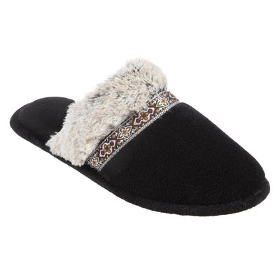Women's Zulu Clog Slippers in Black Right Angled View