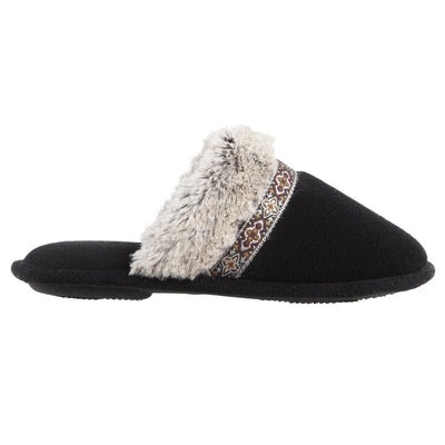 Women's Zulu Clog Slippers in Black Profile