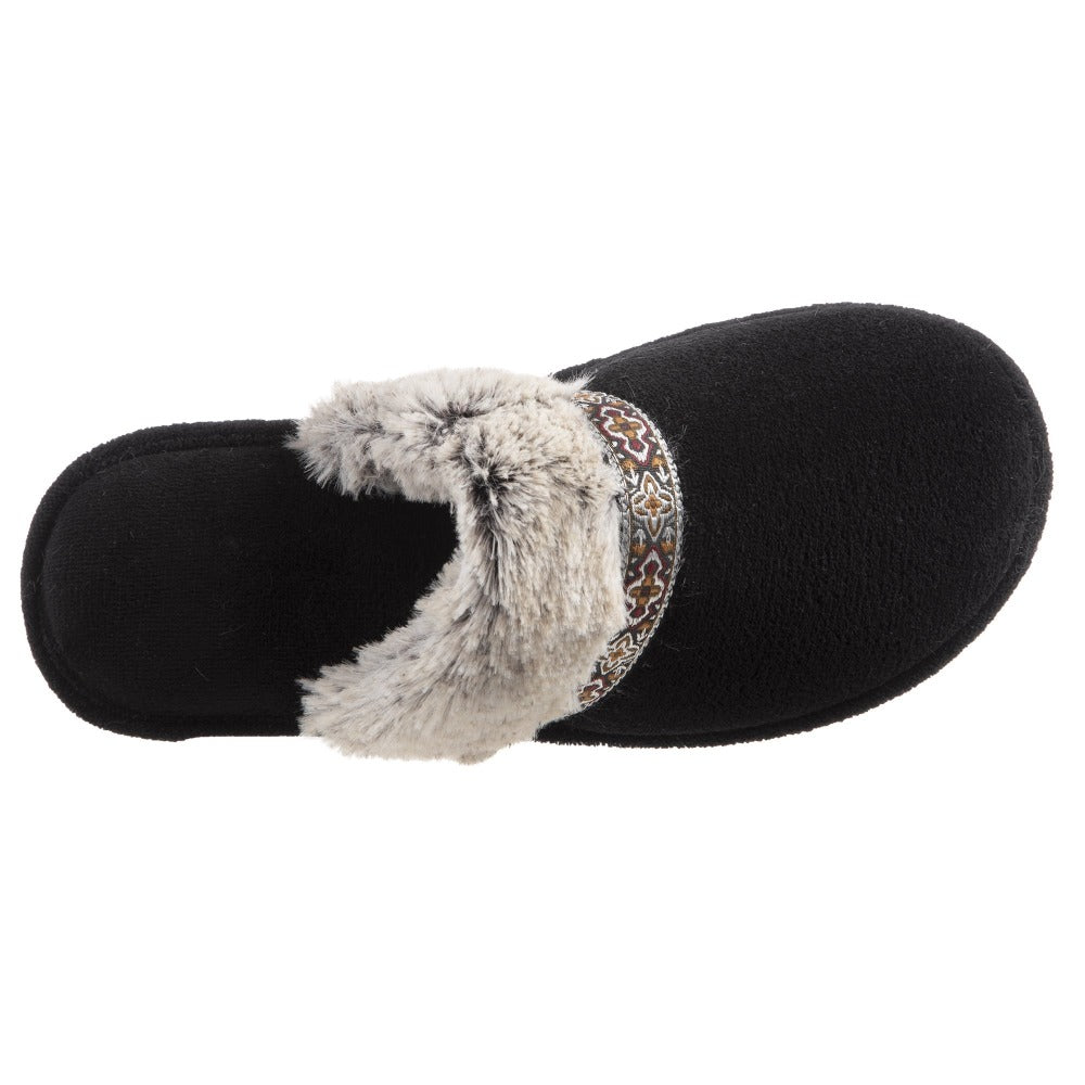 Women's Zulu Clog Slippers Black Inside Top View