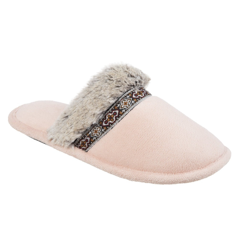 Women's Zulu Clog Slippers in Evening Sands (Pink) Right Angled View