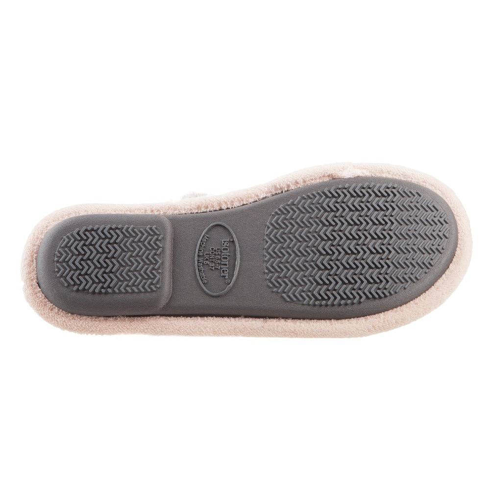 Women's Zulu Clog Slippers in Evening Sands (Pink) Bottom Sole Tread