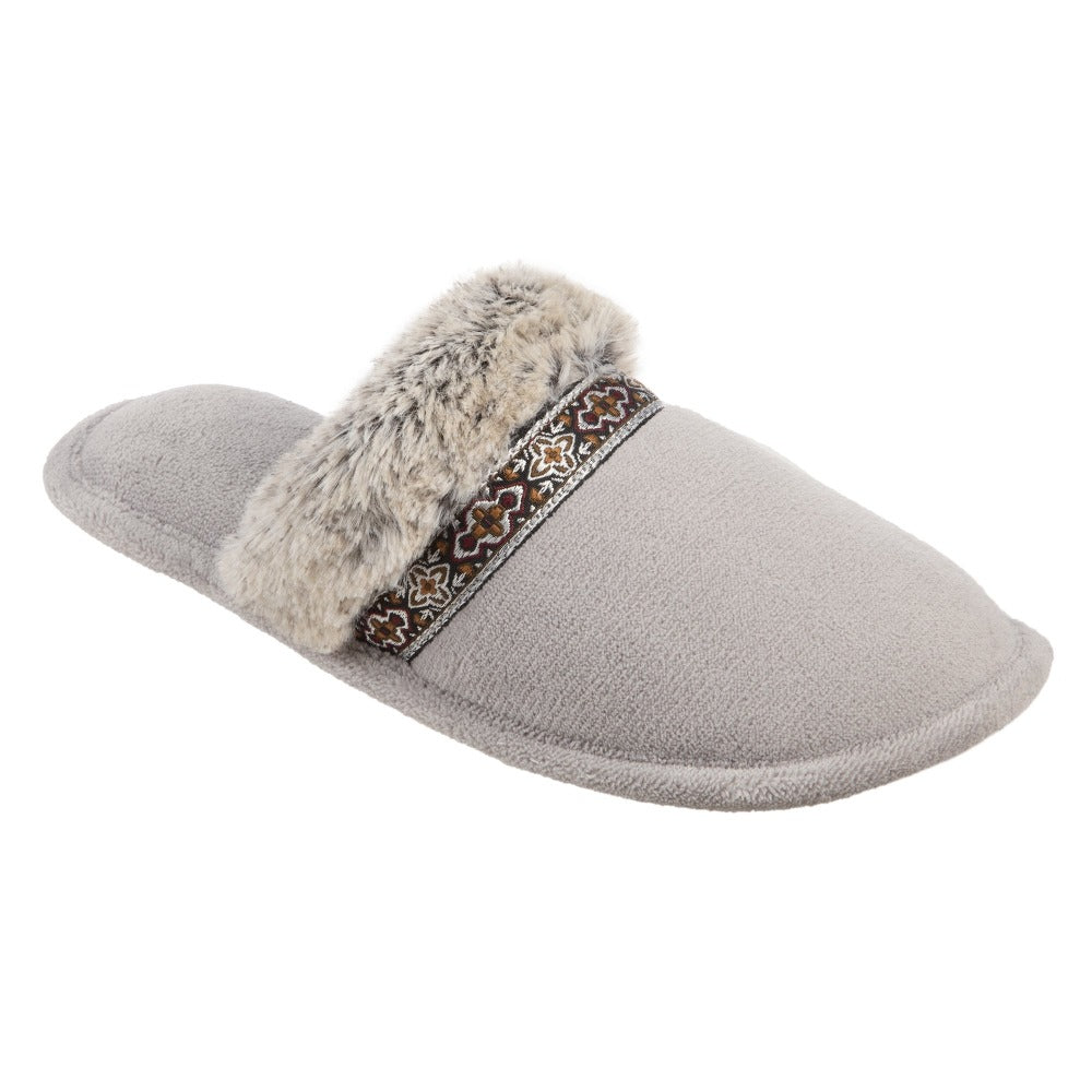 Women's Zulu Clog Slippers in Stormy Grey Right Angled View