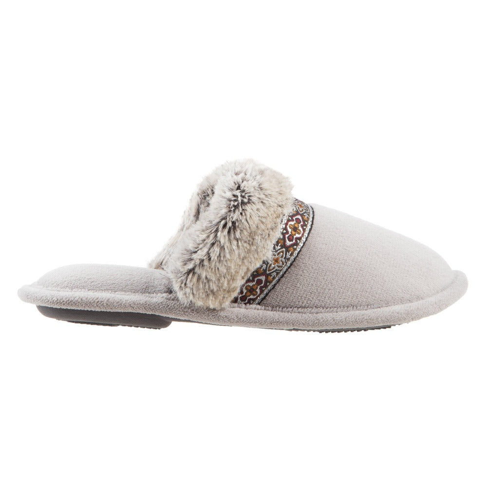 Women's Zulu Clog Slippers in Stormy Grey Profile