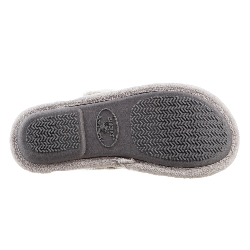 Women's Zulu Clog Slippers in Stormy Grey Bottom Sole Tread