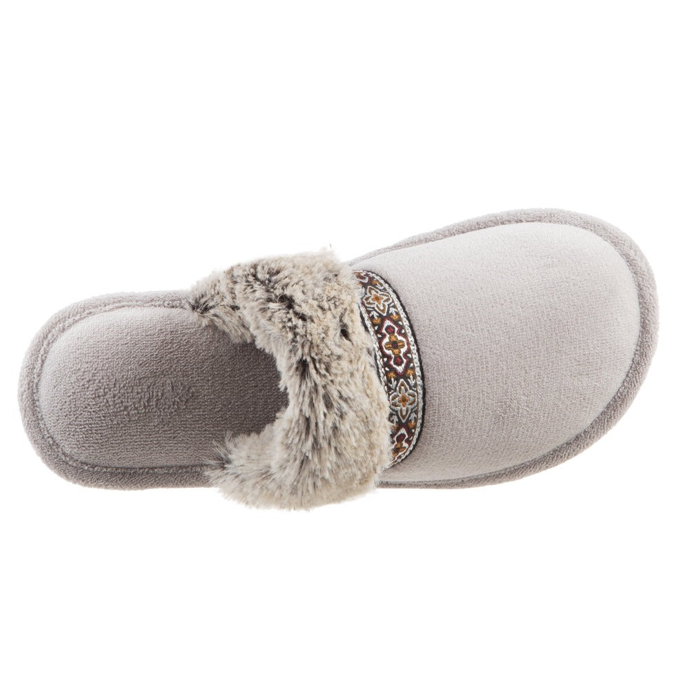 Women's Zulu Clog Slippers in Stormy Grey Inside Top View