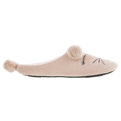 Women's Microterry Critter Hoodback Slippers Evening Sand Profile