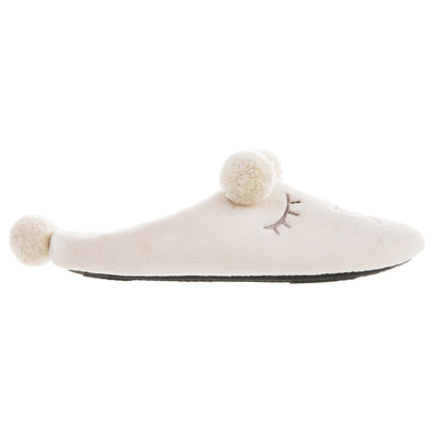 Women's Microterry Critter Hoodback Slippers Evening Sand 6