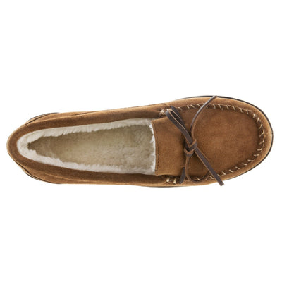 Women's Genuine Suede Moccasins in Buckskin Inside Top View