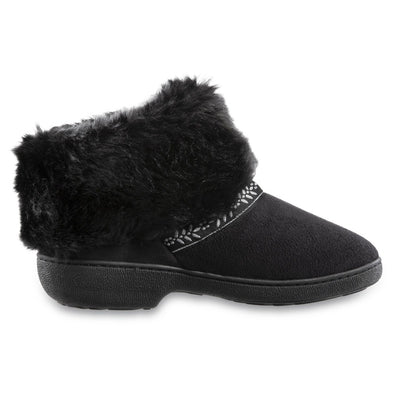 Women's Microsuede Addie Boot Slippers in Black Profile